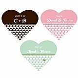 Personalized Heart-Shape Stickers to Match Your Theme (22 Colors)
