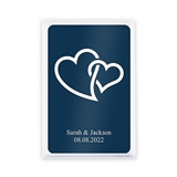 Unique Custom Playing Card Favors - Linked Double Hearts Design