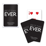 Unique Custom Playing Card Favors - Best Day Ever Design (6 Colors)