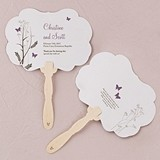 Personalized Romantic Butterfly Hand Fans (9 Colors) (Set of 2)