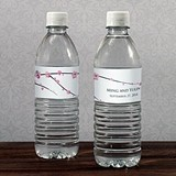 Cherry Blossoms Design Personalized Water Bottle Labels (Set of 10)
