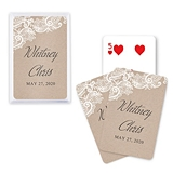 Unique Custom Playing Cards with Rustic Lace Medley Design