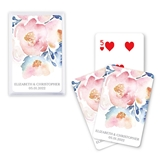 Unique Custom Playing Card Favors - Floral Garden Party Design