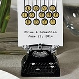 Weddingstar Personalized Vintage Typewriter Card (4 Messages)