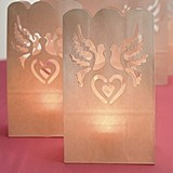 Loverbirds and Heart Motif Paper Lantern Luminaries (Package of 12)