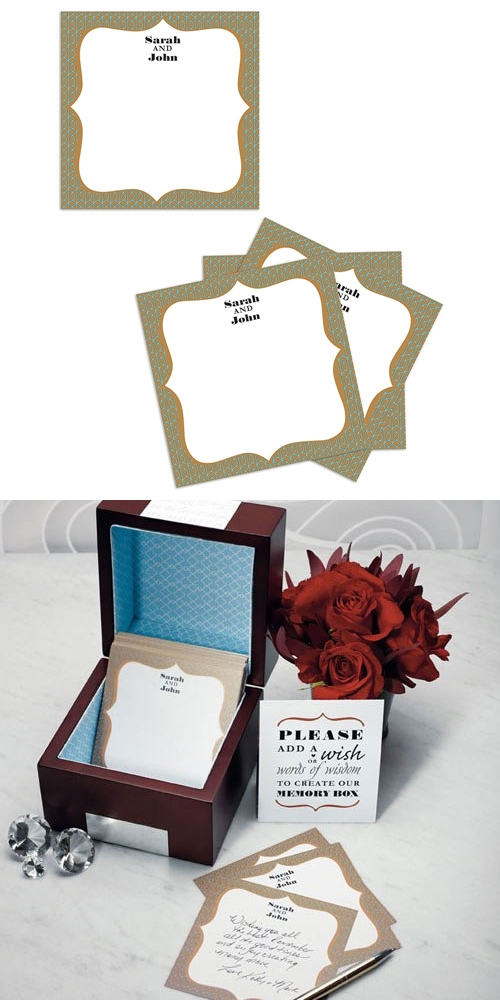 Weddingstar Personalized Well Wishing Cards with Tent Card (Set of 6)