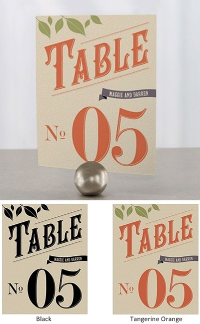 """Vineyard Motif"" Personalized Table Numbers (Set of 12)"