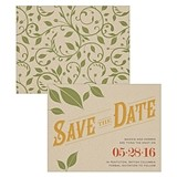 """Vineyard Motif"" Personalized Save the Date Cards (Set of 8)"