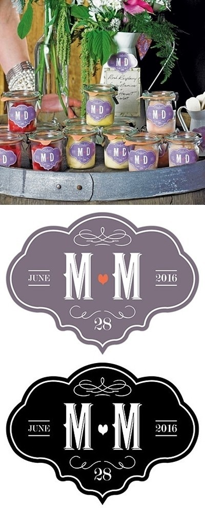 """Vineyard Motif"" Personalized Die-Cut Stickers (Set of 2)"