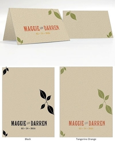 """Vineyard Motif"" Personalized Place Cards (Set of 6)"
