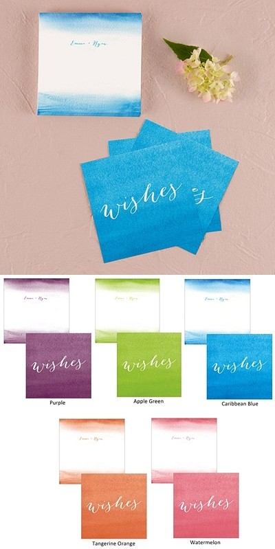 Weddingstar Chic Aqueous Memory Box Well Wishes Cards (Set of 6)