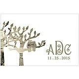 Owl Silhouettes in Tree Personalized Large Rectangular Tags (Set of 2)