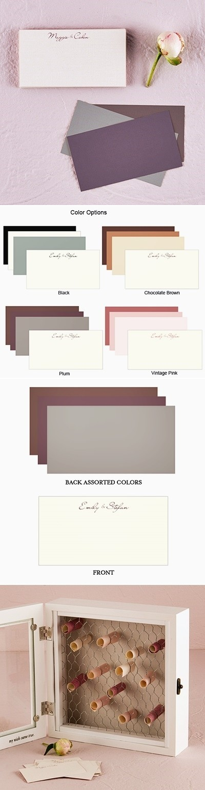 Personalized Equestrian Love Paper Wish Scrolls (4 Colors) (Set of 16)