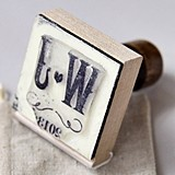 Weddingstar Personalized Vineyard Motif Rubber Stamp