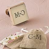 Weddingstar Burlap Chic Monogram Personalized Rubber Stamp