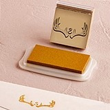 """Woodland Pretty"" Personalized Monogram Antler Rubber Stamp"
