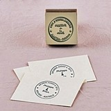Weddingstar World Destinations Wedding Personalized Rubber Stamp