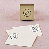 Weddingstar Wanderlust Monogram Personalized Rubber Stamp