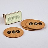 "Personalized ""Smart Type"" Couple's Monogram Rubber Stamp"