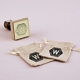 """""""Bistro Bliss"""" Personalized Monogram Rubber Stamp"""