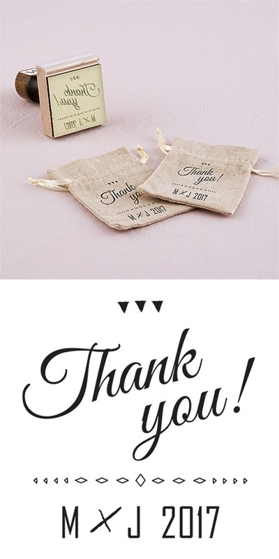 """""""Free Spirit"""" Personalized Thank You Rubber Stamp"""