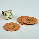 """Free Spirit"" Personalized Circle Monogram Rubber Stamp"