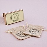 """Pastoral """"Natural Charm"""" Personalized Rubber Stamp"""