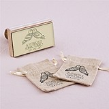 """Woodland Style"" Owls Motif Personalized Rubber Stamp"