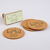 """Woodland Style"" Bears Motif Personalized Rubber Stamp"