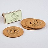 """Woodland Style"" Deer Motif Personalized Rubber Stamp"