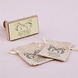 """Woodland Style"" Squirrels Motif Personalized Rubber Stamp"