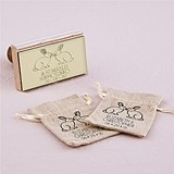 """Woodland Style"" Rabbits Motif Personalized Rubber Stamp"