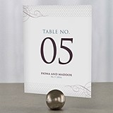 Personalized Contemporary Vintage Table Numbers (Set of 12)