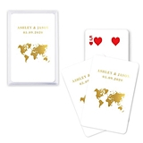 Unique Custom Playing Cards with Wanderlust Travel Design (3 Colors)
