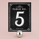 Personalized Table Numbers with Chalkboard Print Design (Set of 12)