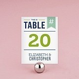 "Personalized ""Smart Type"" Table Number Cards (Set of 12)"