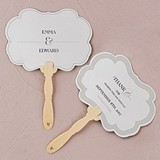 Classic Script Personalized Frame-Shaped Hand Fans (Set of 2)