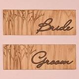 Weddingstar Wood Veneer Bride and Groom Chair Markers