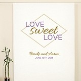 Geo Marble 'Love Sweet Love' Premium Canvas Photo Backdrop (2 Colors)