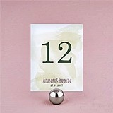 "Personalized ""Natural Charm"" Table Number Cards (Set of 12)"