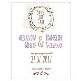 Personalized 'Natural Charm' Save the Date Cards (Set of 8)