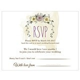 Weddingstar Personalized 'Natural Charm' RSVP Cards (Set of 6)