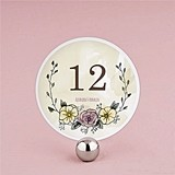 "Personalized ""Natural Charm"" Round Table Numbers (Set of 12)"