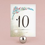 """Feather Whimsy"" Personalized Table Numbers (Set of 12)"