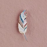 Small 'Feather Whimsy' Paper Feathers (3 Colors) (Set of 18)