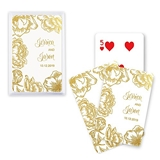 Unique Custom Playing Cards with Modern Floral Motif (3 Foil Colors)
