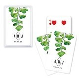 Unique Custom Playing Card Favors - Elegant Greenery Design