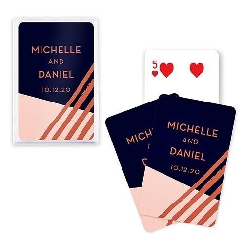 Unique Custom Playing Card Favors - Retro Luxe Design