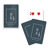 Unique Custom Playing Cards with Stacked Monogram Design