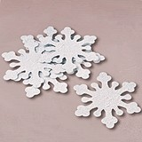 Winter Wedding Iridescent Snowflake Decorations (Package of 10)